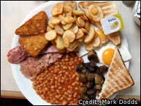 Olympic breakfast (Picture: Mark Dodds)