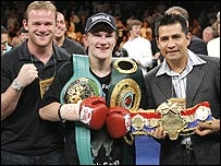 Wayne Rooney, Ricky Hatton and Marco Antonio Barrera