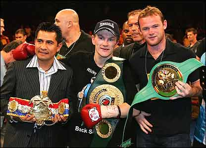 Marco Antonio Barrera, Ricky Hatton and Wayne Rooney