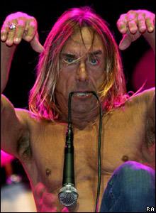Iggy Pop performs at Glastonbury