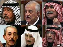 Los seis acusados