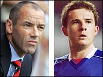 Paul Le Guen and Barry Ferguson