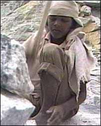 Indian child quarry worker