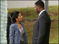 Penny Johnson Jerald and Dennis Haysbert and Sherry and David Palmer in 24