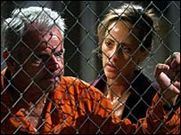 William Devane and Kim Raver as James Heller and Audrey Raines in 24