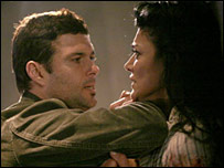 Carlos Bernard and Shohreh Aghdashloo as Tony Almeida and Dina Araz in 24
