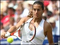 Defending Wimbledon woman's champion Amelie Mauresmo
