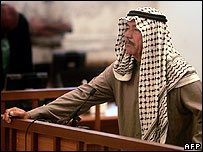 "Ali Hassan al-Majid, or ""Chemical Ali"", in court on 24 June 2007"
