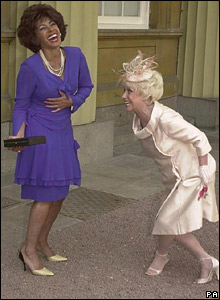 Dame Shirley Bassey and Barbara Windsor MBE
