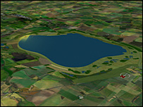 Computer image of the reservoir