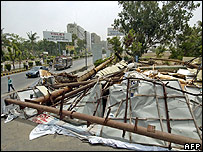 Destroyed billboards, Karachi