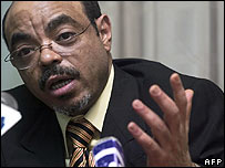 Ethiopia's Prime Minister Meles Zenawi (Peter Delarue/AFP/Getty Images)