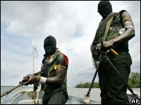 Militants in the Niger Delta (file image)