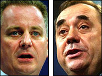 Jack McConnell and Alex Salmond