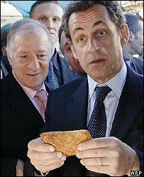 French Interior Minister Nicolas Sarkozy in Corsica