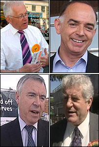 Mike German, Nick Bourne, Rhodri Morgan and Ieaun Wyn Jones