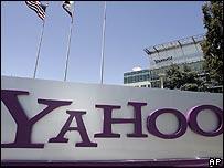 Sign outside Yahoo headquarters