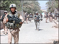 US soldiers in Baquba