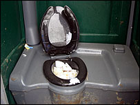 A typical Glastonbury toilet scene