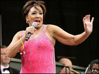 Dame Shirley Bassey at Glastonbury