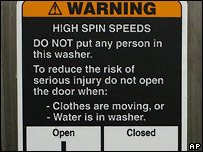 "Winner of ""wackiest warning"" label"