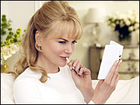 Nicole Kidman in the Nintendo advert