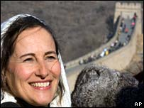 Segolene Royal at Great Wall of China