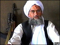 Ayman al-Zawahiri in a previous web-posted videotape