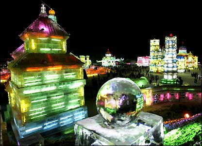 BBC NEWS | In Pictures | In pictures: Harbin ice festival