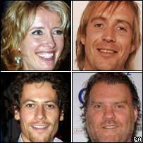 Clockwise from top left: Emma Thompson, Rhys Ifans, Bryn Terfel and Ioan Gruffudd