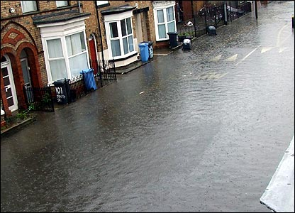 Flooding in Hull.  Picture by Asim Munir