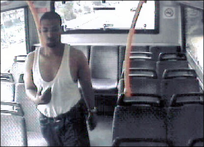 Hussain Osman captured on a bus CCTV after his bomb failed on the Tube