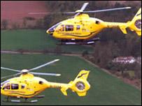 Air ambulance, courtesy of Scottish Ambulance Service