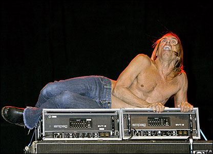 Iggy Pop performs at Glastonbury