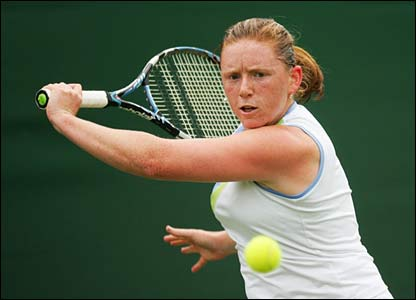 Britain's Naomi Cavaday on Court two