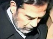 Footage of Saddam Hussein before his execution
