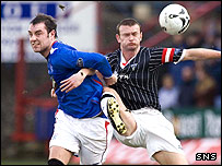Kris Boyd and Dunfermline skipper Scott Wilson