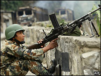 Nepalese soldier - file photo
