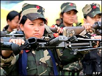Women Maoist fighters - file photo