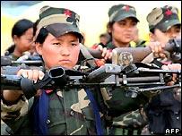 Women Maoist fighters - file photo
