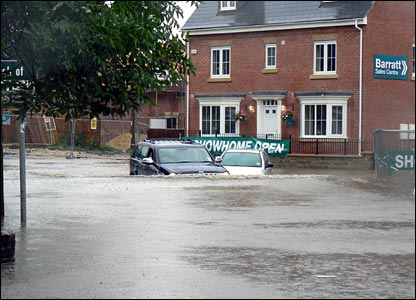 Flooding in Pudsey. Copyright Andrew Shenton