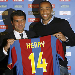 Henry completes his move to Spain