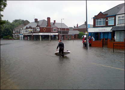 Flooding in Hull. Copyright Jason Hoyle