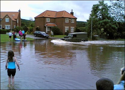 Donnington on Bain flood. Copyright Lyle Burnham
