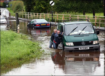 Flooding in Bromyard in Herts. Copyright: Ray Whittaker