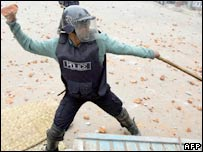 Policeman in Dhaka