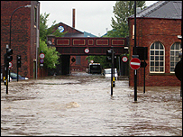 Flooding in the Brightside Lane area of Sheffield