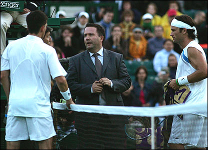 Tim Henman and Carlos Moya