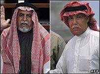 Awad al Bandar (izq.) y Barzan Ibrahim al-Tikriti.