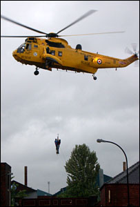 Helicopter rescue in Sheffield (Pic: Paul Fisher)